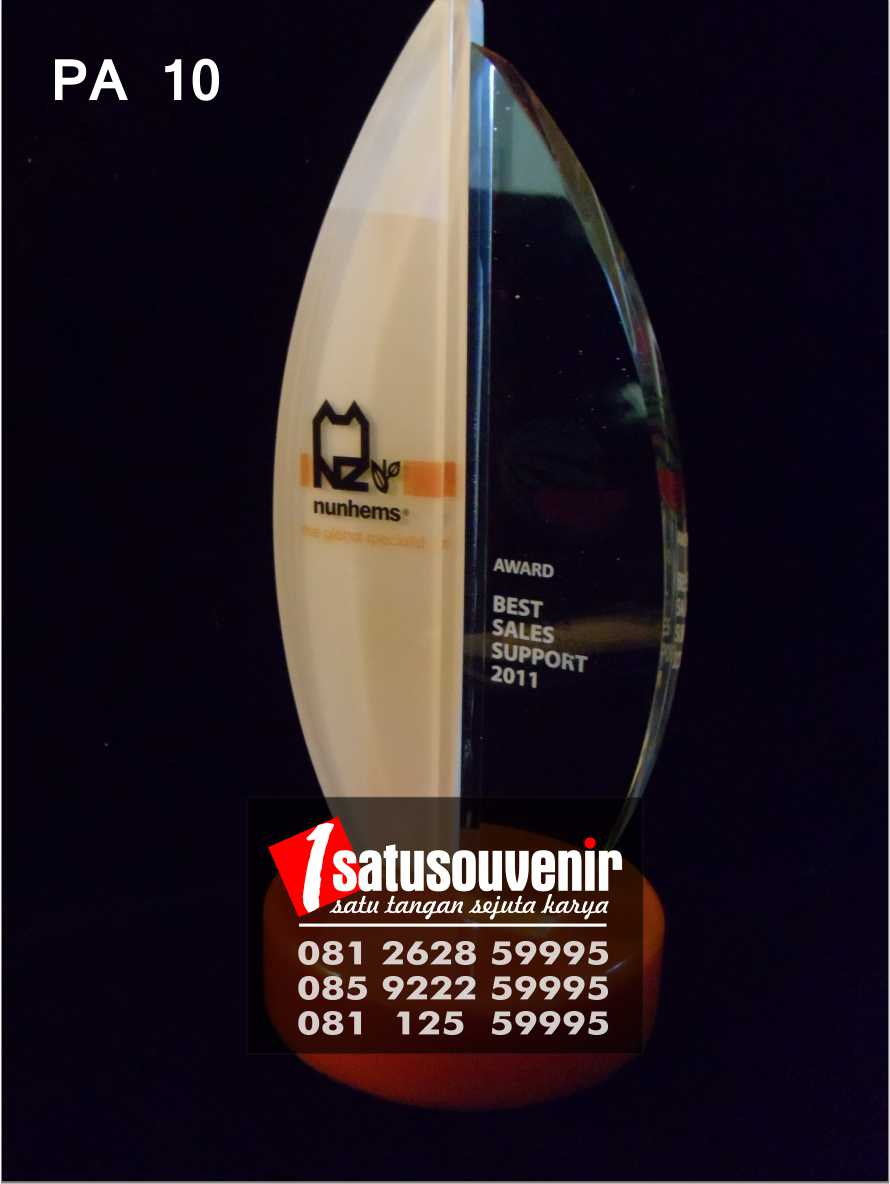 Plakat Akrilik Penghargaan | Plakat Nunhems Best Seller Support