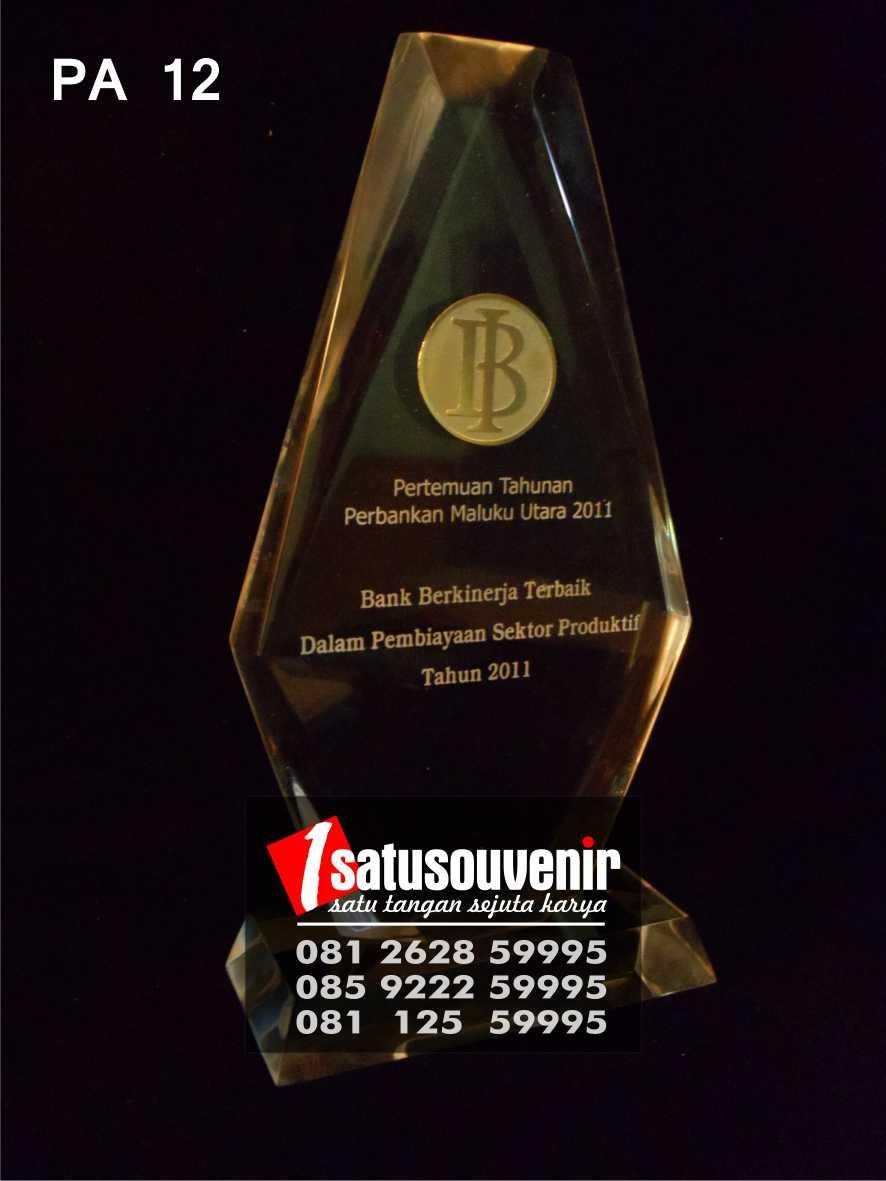 Plakat Penghargaan Bank BI   Plakat Akrilik Penghargaan Kinerja Terbaik