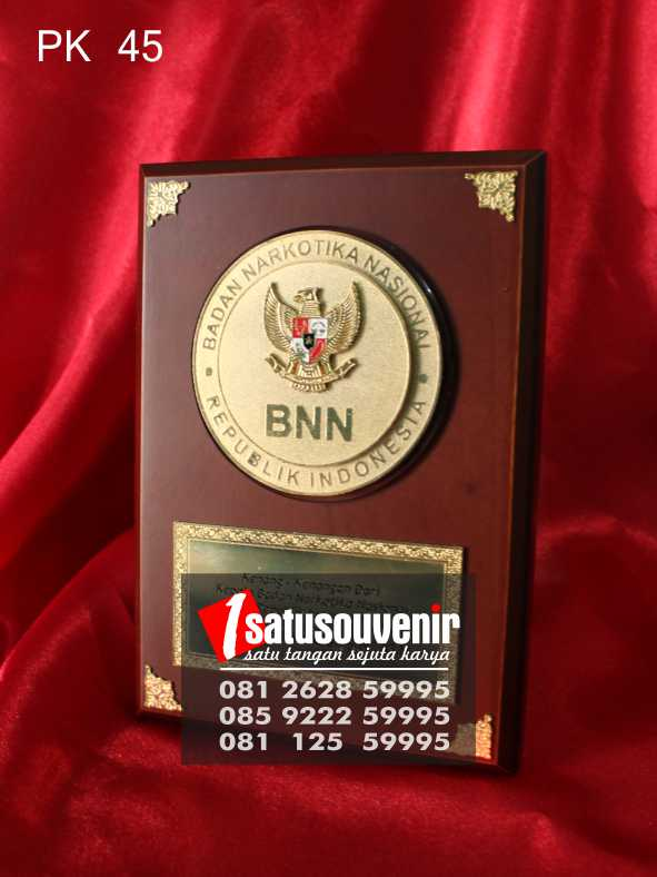 Plakat Kayu BNN | Jual Plakat Kayu BNN | Harga Plakat Kayu BNN